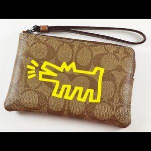 NWT Coach RARE Keith Haring Dog Wristlet!!